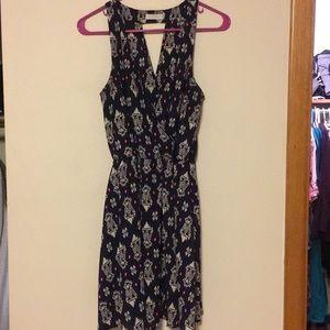 Lush navy patterned dress